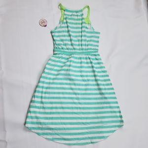 💜NWT Girl's Asymmetric Striped Maxi Sundress